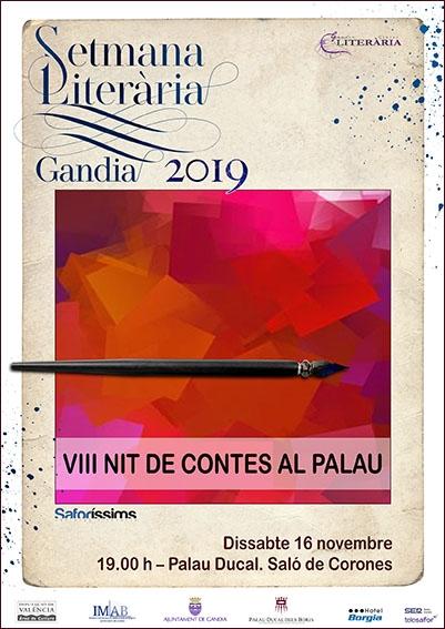 SEMANA LITERARIA EN EL PALAU DUCAL DELS BORJA…..