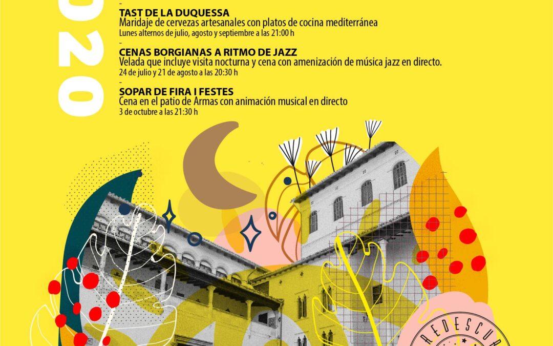 REDESCOBREIX LES NITS DEL PALAU DUCAL Calendari d'activitats Juliol-Setembre