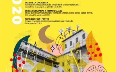 REDESCUBRE LAS NOCHES DEL PALAU DUCAL Calendario de actividades Julio- Septiembre